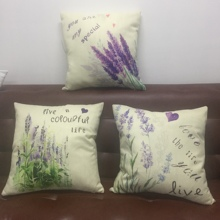 Beauty Lavender Purple Flower Pattern wholesale wedding gift cushion cover home sofa party pillow case decorative