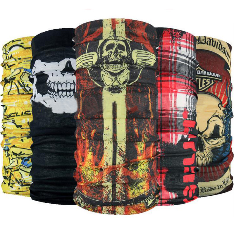 Skull Bandana Headband Outdoor Sport Bicycle Bike Multi Functional Seamless Tubular Magic Face Mask Tube Ring Scarf