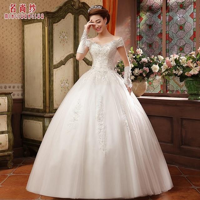 Fashion lace wedding dress 2014 bandage sweet High quality white ...