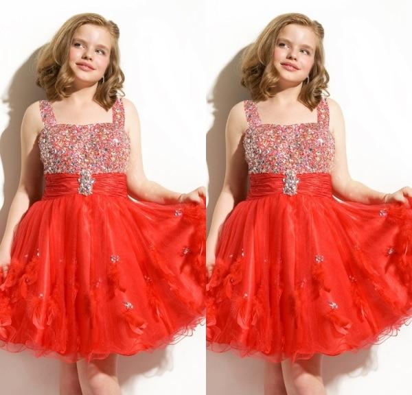 Popular Junior Red Christmas Dresses-Buy Cheap Junior Red ...