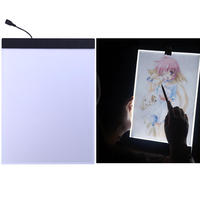 USB LED A4 LED Copy Art Drawing Tracing Stencil Board Touch Type Artist Table Plate