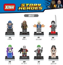 Super Heroes DC Building font b Blocks b font Avengers clown Samurai sword Minifigures Children Minifigures