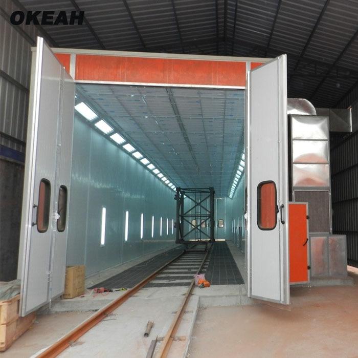 Truck Bus Engineering Vehicle Spray Booth 10m 12m 14m Length