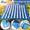 Tewango Marca 95% Azul Branco Sombra Pátio Pátio Com Jardim UV Nursery Canopy Rede de Malha de Tela Protetor Solar Net Com Eyelock