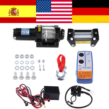 1 комплект электрическая лебедка фунтов 12 в стальной кабель мощная лебедка квадроцикл ATV Лодка лебедка подъемные Инструменты Электрический восстановительный комплект для лебедки