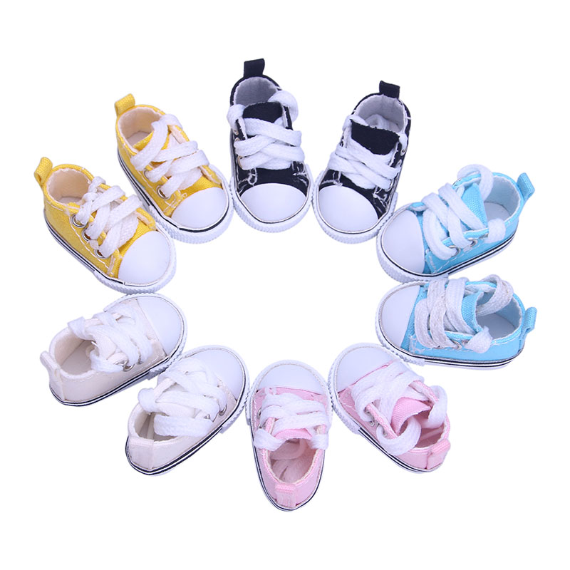 5 colors 5CM Fashion Denim Canvas Mini Toy Shoes 1/6 Bjd For Tilda Doll,fit for 14.5 inch Wellie Wisher doll,Doll accessories mini toy doll shoes 6 5cm leather shoes for 1 4 1 3 bjd doll and 16 inch sharon doll accessories