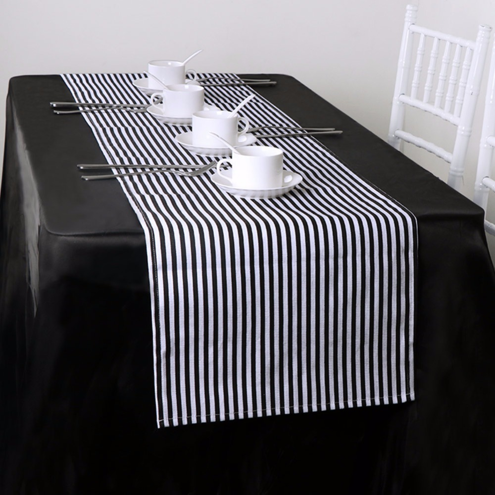 Ourwarm Black & White Striped Table Decorator for Home Decor 35 * - Үй тоқыма - фото 2