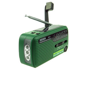 Image 2 - ديجن DE13 FM AM SW راديو كرنك دينامو الطاقة الشمسية في حالات الطوارئ راديو الرجعية A0798A استقبال العالم المحمولة راديو الإنترنت