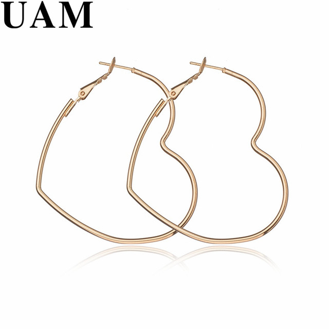UAM Top Quality Copper Simple Romantic Jewelry Hollow Big Gold ...