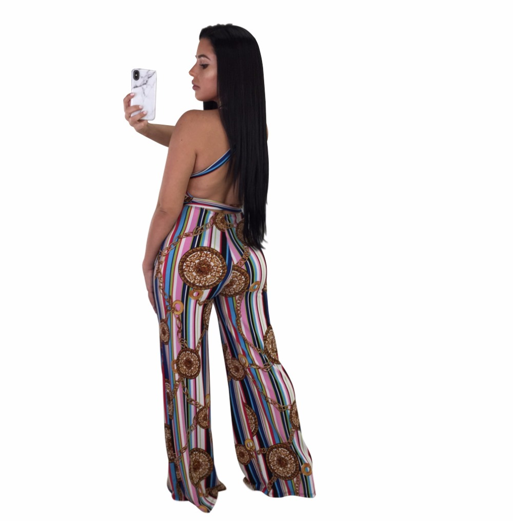 866f0281680 Womens Jumpsuits Elegant Button Loose Long Wide Leg Jumpsuits 2018 New  Arrival Sexy Backless Sleeveless Romper-in Jumpsuits from Women s Clothing  ...