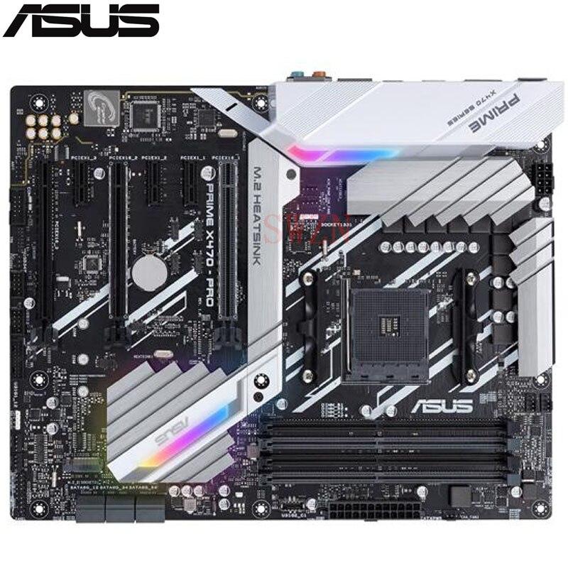 original New Desktop motherboard For ASUS PRIME X470-PRO X470 Socket AM4 4*DDR4 support 64G 6*SATA III 2*M.2 ATX недорого