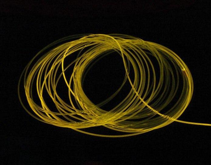 100mX высокое качество боковое свечение 1,5 мм PMMA волоконно оптический кабель прозрачное твердое сердцевина оптического кабеля диаметр Экспре