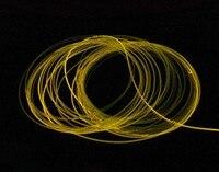 100mx Высокое качество сторону свечения 1.5 мм pmma волоконно-оптический кабель прозрачный твердое ядро оптоволоконного кабеля диаметр Экспресс...