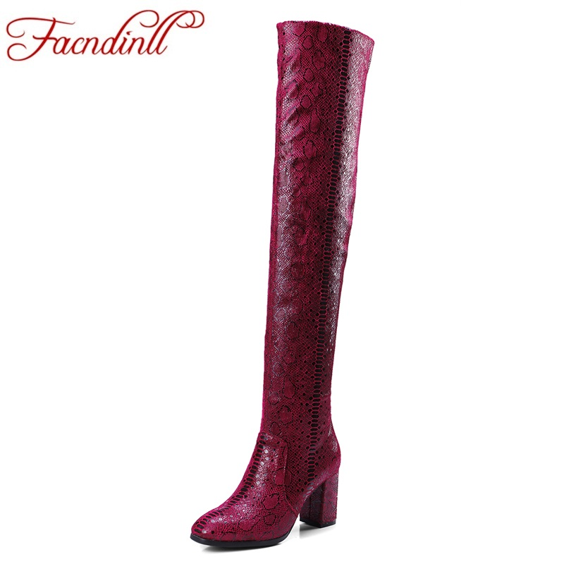 FACNDINLL high qulaity autumn winter women long boots shoes high heels round toe woman over the knee high boots big size 34-42 enmayla ankle boots for women low heels autumn and winter boots shoes woman large size 34 43 round toe motorcycle boots