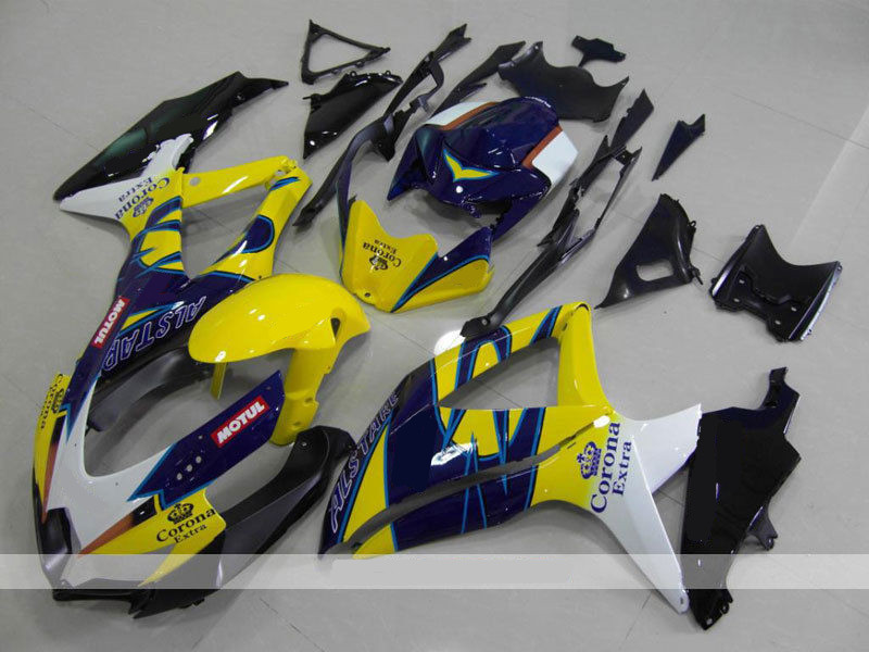 3Gifts New ABS Fairings Kit Fit For SUZUKI GSXR600 GSXR750 08 09 10 R600 R750 <font><b>K8</b></font> <font><b>GSXR</b></font> <font><b>600</b></font> 750 <font><b>2008</b></font> 2009 2010 Blue crown image