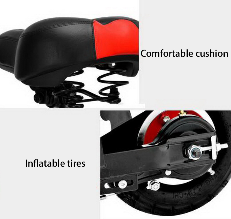 Top 261002/Ladies portable mini dolphin electric scooter / can carry children electric bikes / electric cars/Comfortable cushion 10