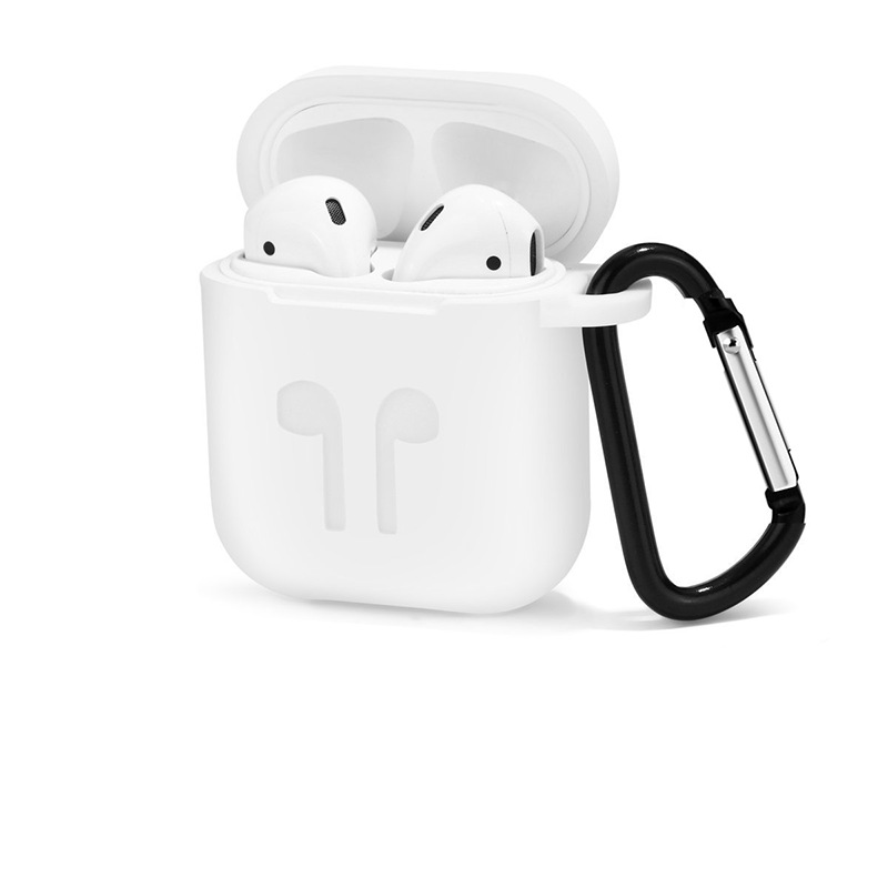Image 5 - 1000pcs Soft Silicone Protection Case Cover for Apple Airpods charging case Portable Slim Cases with Keychain air Pods hang bag-in MP3/MP4 Bags & Cases from Consumer Electronics