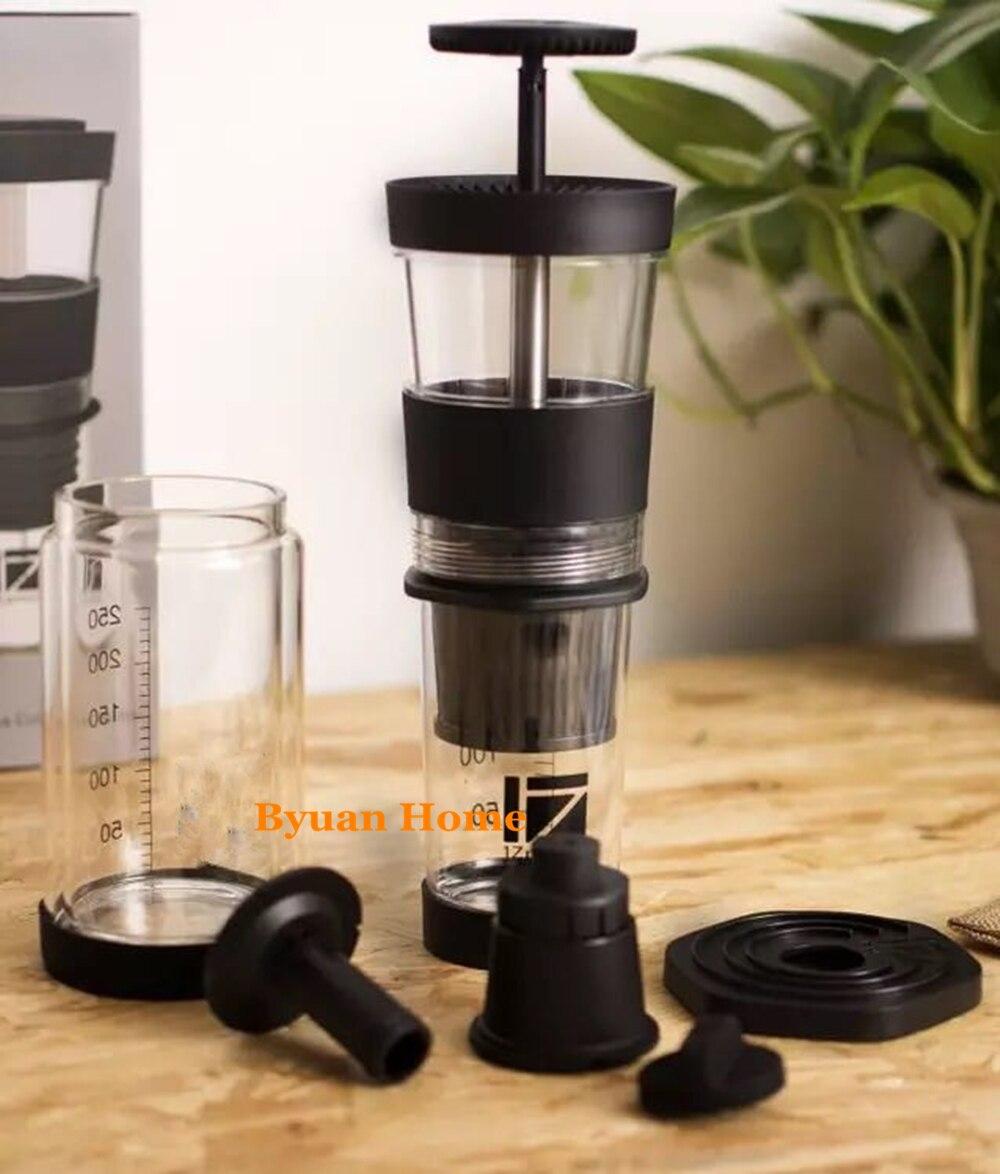 スーパーミニポータブルマニュアルエスプレッソカプセルコーヒーメーカー互換カプセルデザインtritanライトハンドルコーヒーマシンカップデザイン  グループ上の 家電製品 からの コーヒーメーカー の中 3