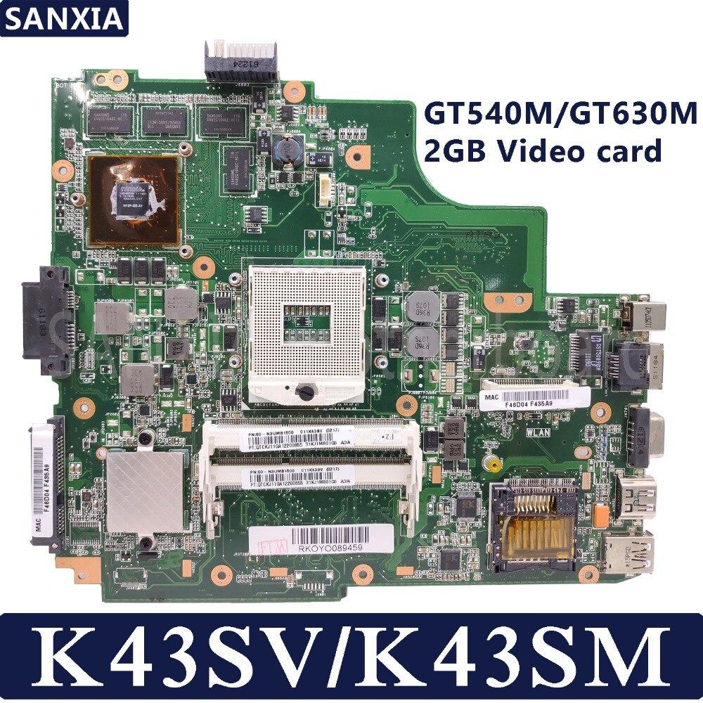 KEFU K43SV Laptop motherboard for ASUS K43SM K43S X43S K43SJ K43 Test original mainboard GT540M/GT630M-2GKEFU K43SV Laptop motherboard for ASUS K43SM K43S X43S K43SJ K43 Test original mainboard GT540M/GT630M-2G