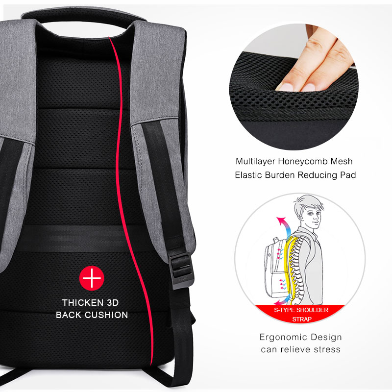 KAKA Rugzak Brand Design USB Charging Men Backpack 15 inch Laptop Bag Backpack Male Waterproof Schoolbag Backpack Mochila 3