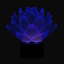 LED  3D Lotus Flower Light