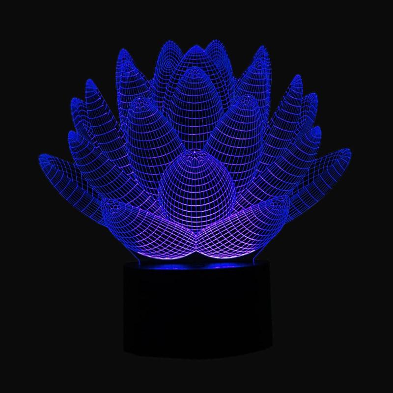 Luzes da Noite de toque crianças que vivem Item : Loteus 3d Optical Visual Night Lamp