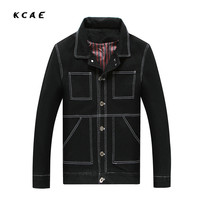 Solid Casual Slim Mens Denim Jacket Plus Size L 8XL Bomber Jacket Men High Quality Cowboy
