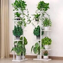 Flower shelf indoor home multi-layer wrought iron flower pot rack balcony rack floor-standing living room rack plant rack