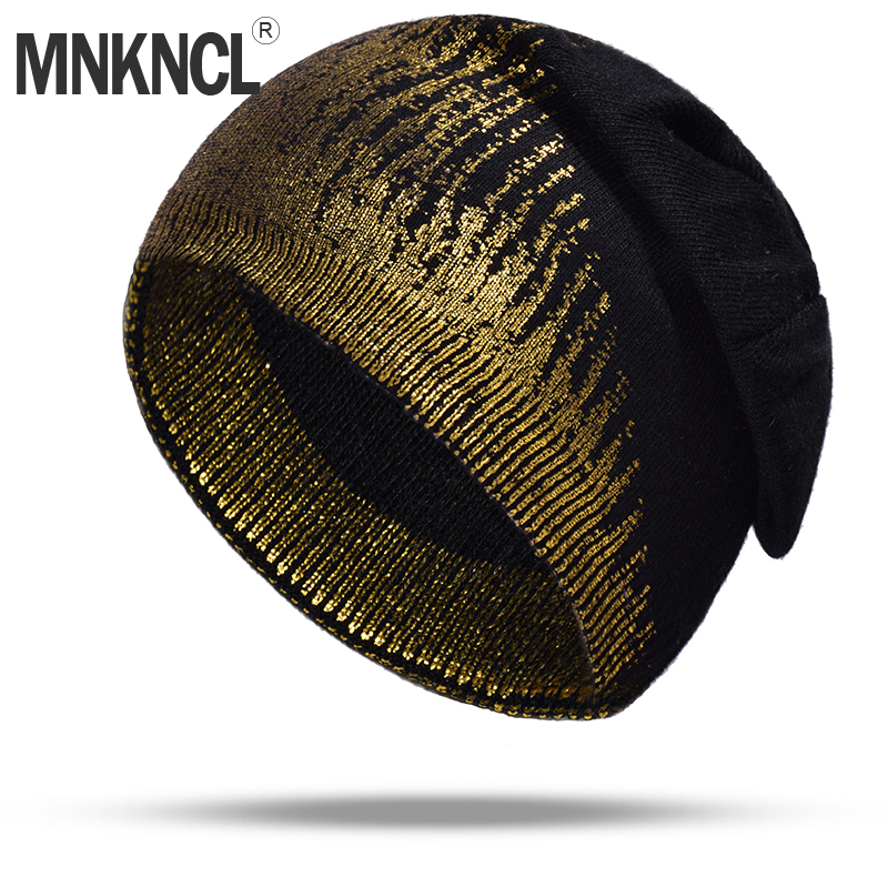 2018 New Winter Hats For Women Gold plating Wool Knitted Hat Fashion Brand Cap Casual Warm Hat Female   Skullies     Beanies   Bonnet