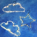 3*AA Batteries Operated 40LED Creative Cloud/ Star Shape Hangers String Lights For Christmas New Year The Best Gift For Children
