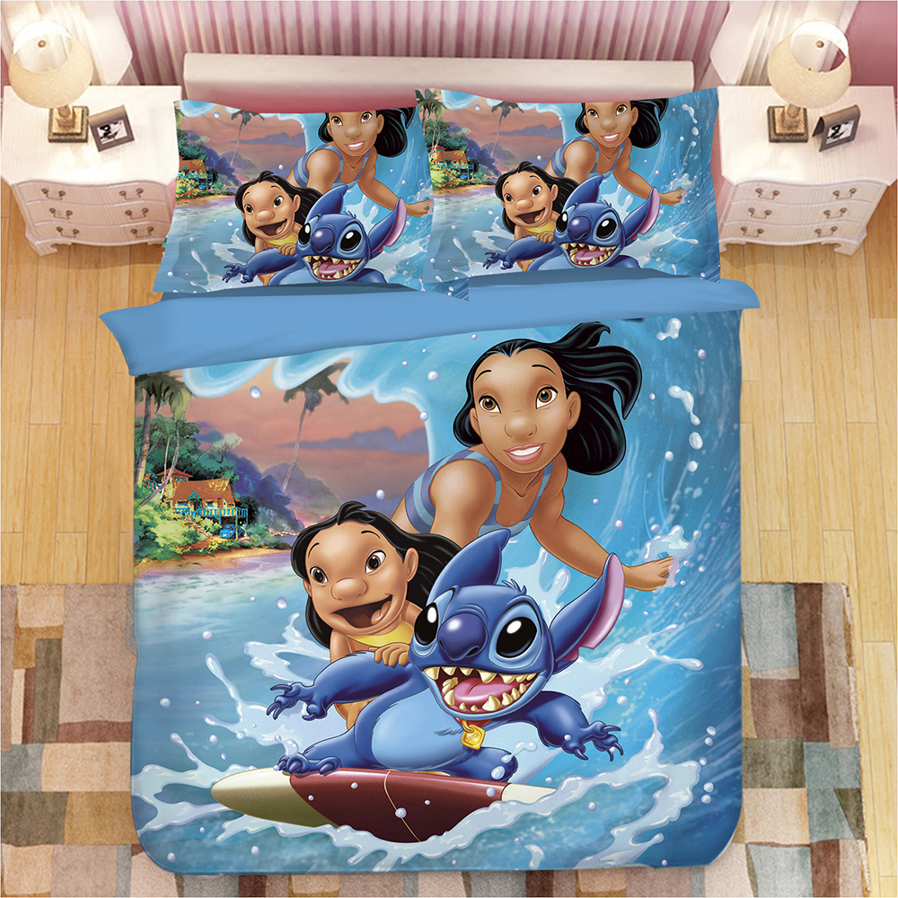disney surfing stitch bedding set twin size duvet covers for kids bedroom decoration boys bed pillow sham single queen coverletsdisney surfing stitch bedding set twin size duvet covers for kids bedroom decoration boys bed pillow sham single queen coverlets