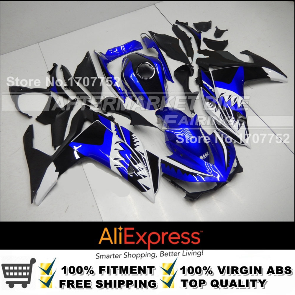 BLUE AND WHITE YZF R25 R3 ABS Fairing Kit For Yamaha