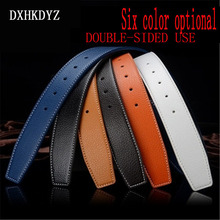 2017 brand sales high-end fashion ladies leather  belt men's belt no H Buckle luxury quality soft leather free shipping