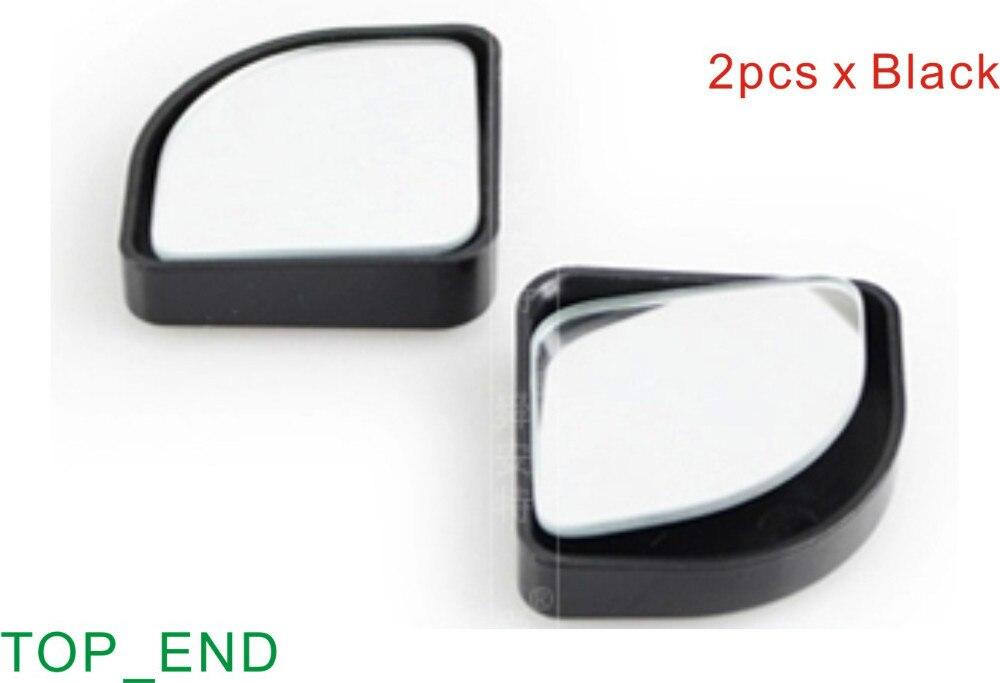 "Hot & Japan Standard Quality ,1 Pair, Free Shipping 2"" Fan Shape, Adjustable Car Side Mirror, Blind Spot Elimination,Black Frame"