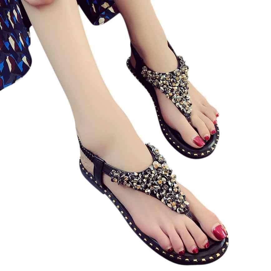 d73c994e0 YOUYEDIAN sandalias mujer 2018 Вьетнамки модные летние новые женские  сандалии на плоской подошве повседневная Летняя обувь