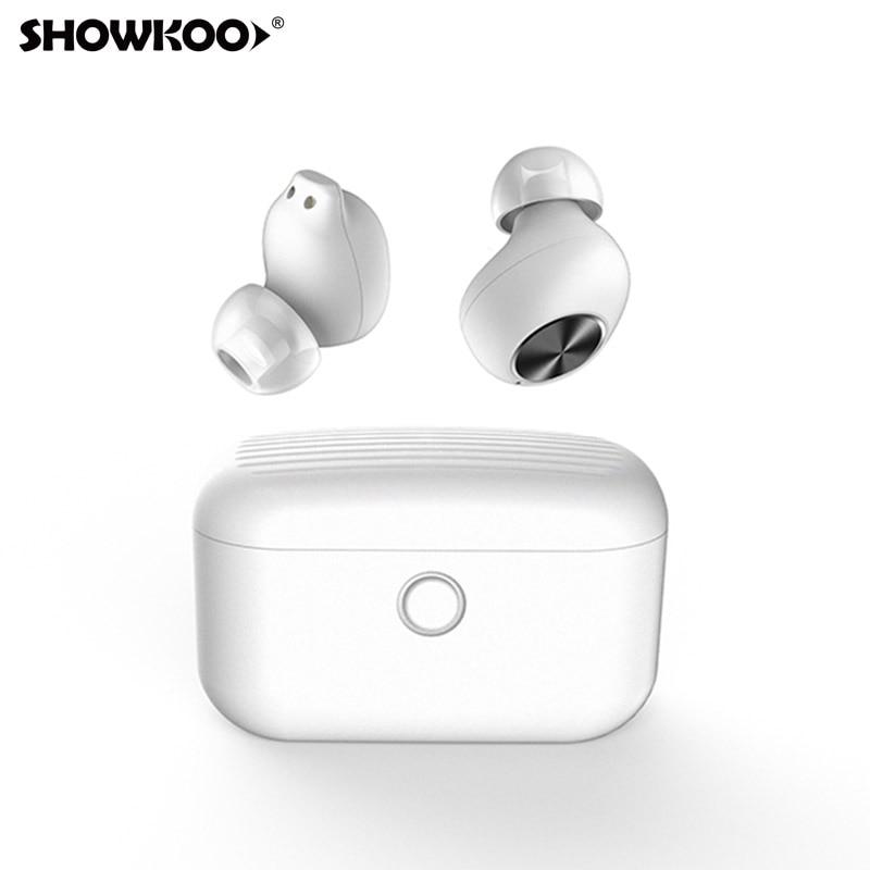 Showkoo sans fil Tws Mini Bluetooth 5.0 casque réduction du bruit dans l'oreille affaires Bluetooth écouteur pour Nokia 8 7 Plus 6 HTC U11