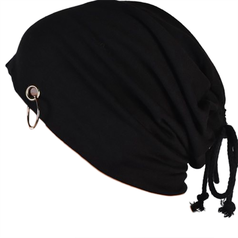 Honest Hot Sport Hat Autumn Winter Fashion New Neutral Monochrome With Iron Ring Drawstring Head Cap