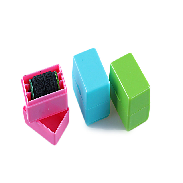 1PC Guard Your ID Roller Stamp Self Inking Messy Code Security Portable Marker Pen