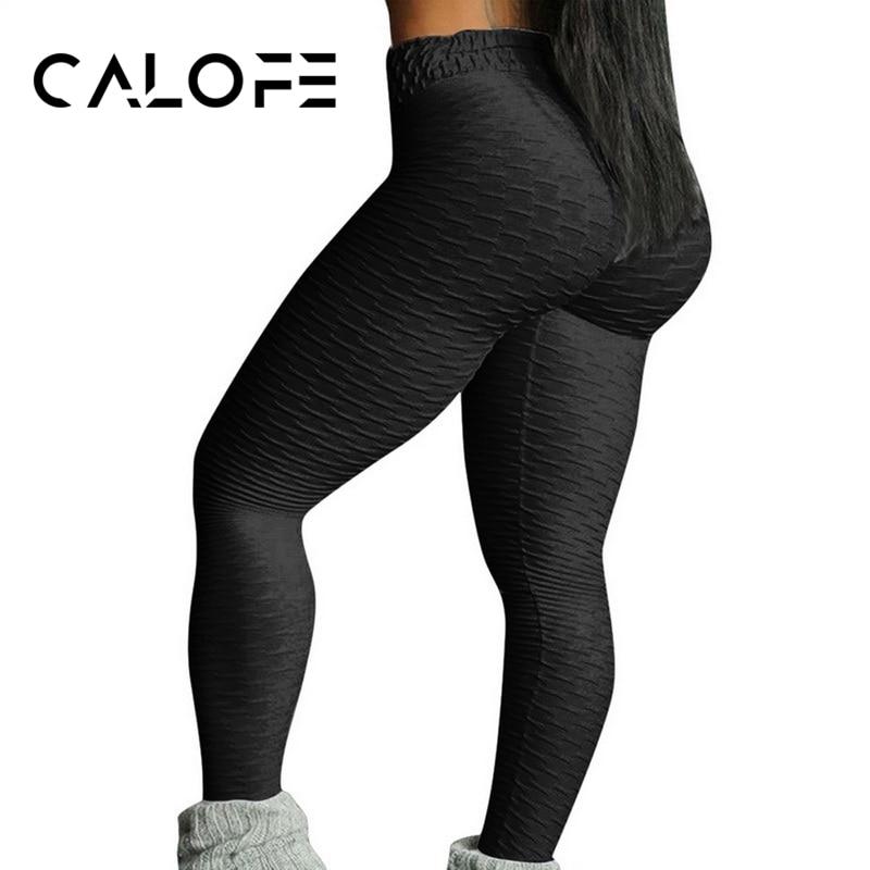 CALOFE Fitness Casual Leggings Women's Skinny Trousers Sexy High Waist  Workout Female Pants  Elasticity Push Up Leggins Female