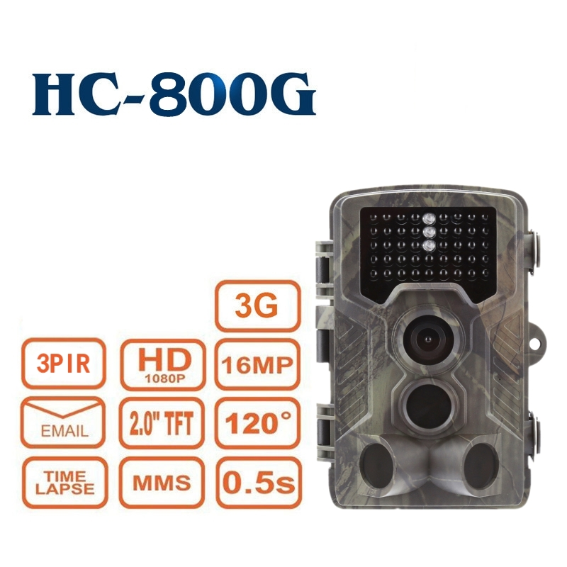 3g MMS SMTP Macchina Fotografica di Caccia HC-800G 16MP 3g di Rete Trappola Gioco Traccia di Caccia Telecamere WCDMA CDMA di Visione Notturna telecamera di Sorveglianza a raggi infrarossi