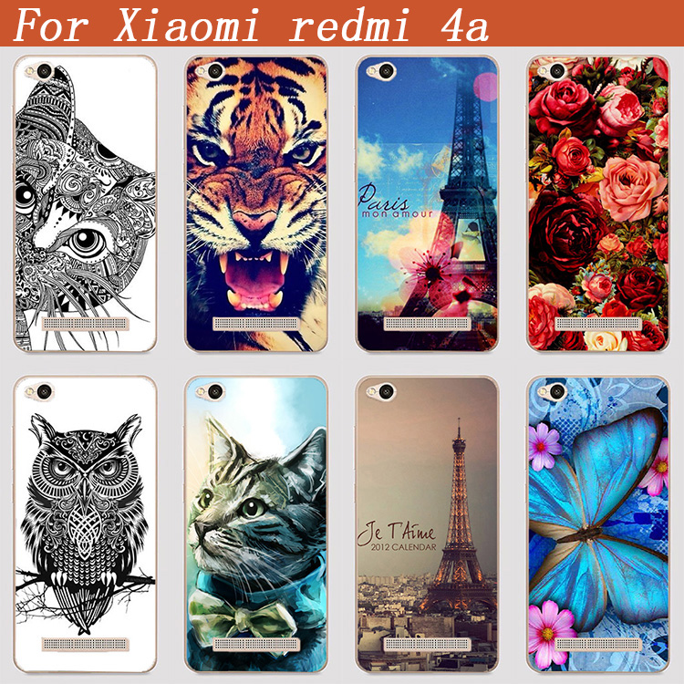 For Xiaomi Redmi 4A Case Cover Diy UV Painting Colored Tiger Owl Rose - Mobile Phone Accessories and Parts - Photo 1