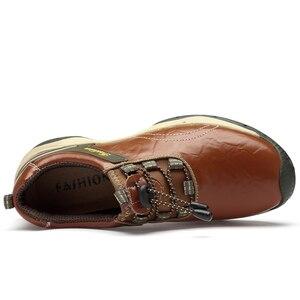 Image 5 - חדש לגמרי עור באיכות גבוהה גברים נעליים חיצוני עמיד למים סניקרס אופנה נעליים יומיומיות שרוכים גברים לופרס גדול גודל 38 46