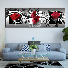 все цены на Canvas Painting Abstract flower Poster Home Decor Wall Art Posters And Prints Decorative Picture онлайн