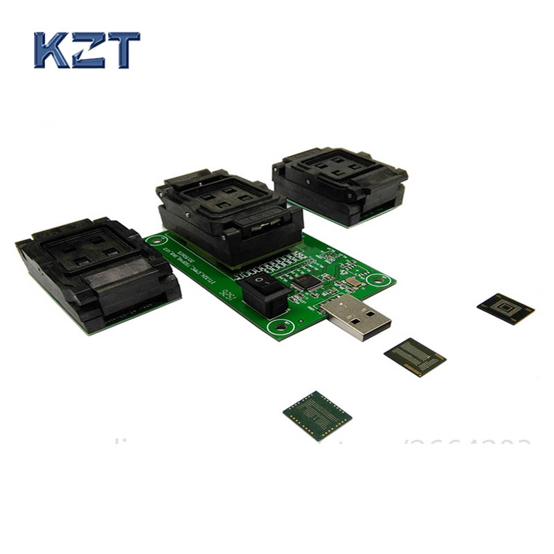 3 IN 1 eMMC eMCP Test Socket BGA153/169 BGA162/186 BGA221 Reader eMMC programmer Socket  Flash Data Recovery3 IN 1 eMMC eMCP Test Socket BGA153/169 BGA162/186 BGA221 Reader eMMC programmer Socket  Flash Data Recovery
