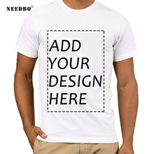 NEEDBO Tshirt Men Customized t shirt Logo Printing DIY Your Own Design T Shirt Summer Casual Cotton Streetwear T-shirt