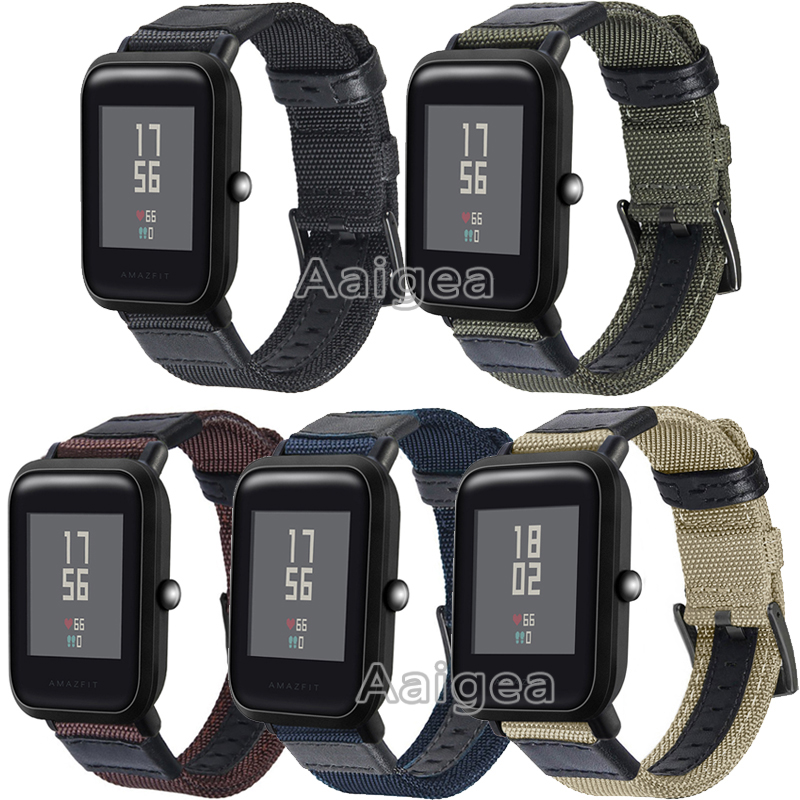 Woven Nylon Watch Strap For Huami Amazfit Bip BIT PACE Lite Youth Replacement Bracelet for amazfit bip Smart Watch watchbands