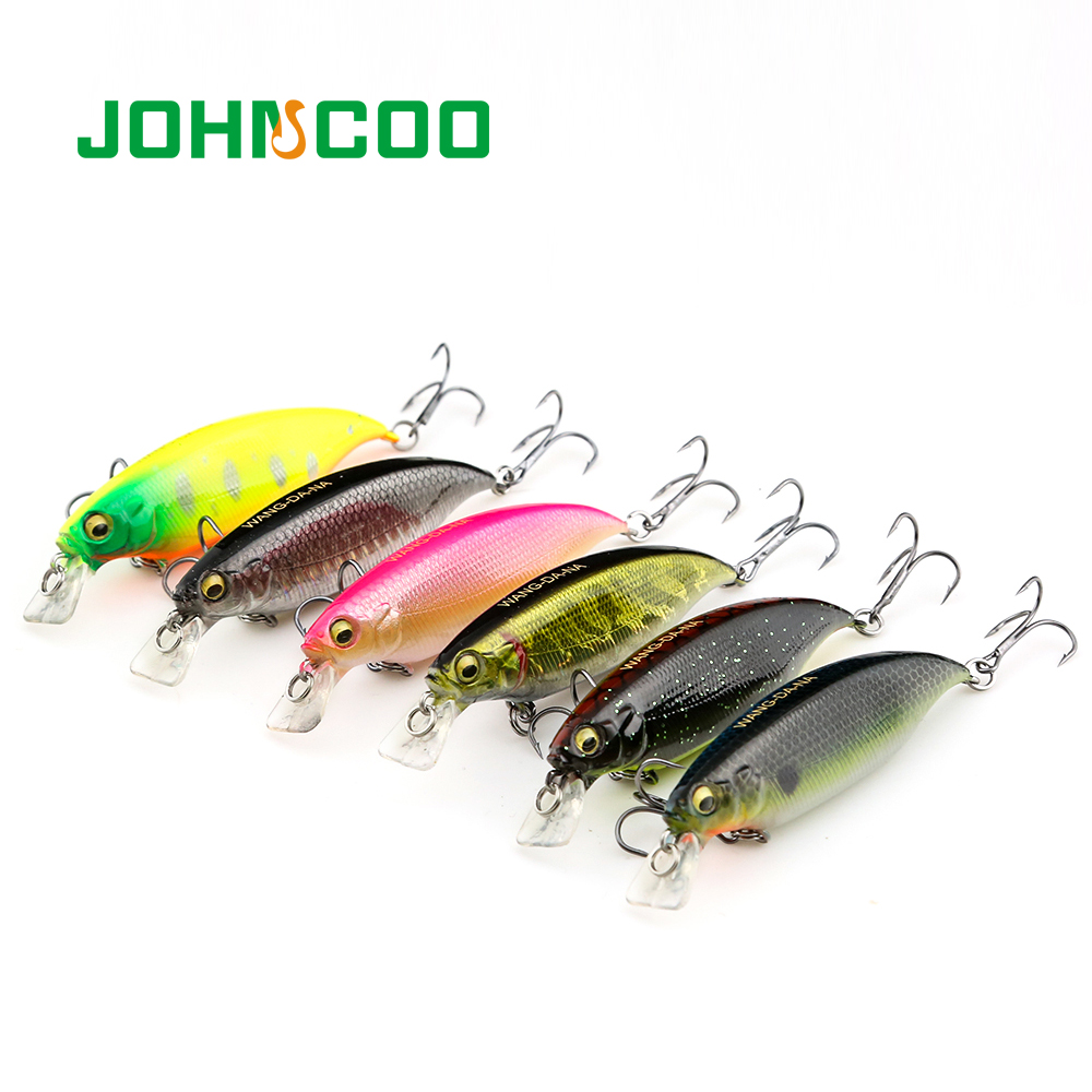 Hard Minnow Fishing Lure Hard Bait Wobbler 6 Colors Bass Trout Lure 80mm 10.5g Lure Professional Fishing Diving Depth 2m