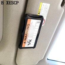 Buy card holder tiguan and get free shipping on aliexpress bxescp car sun visor holder parking card business organizer storage box colourmoves