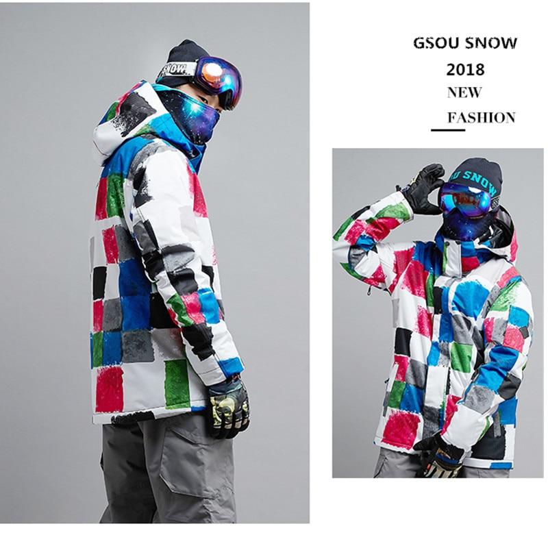 Gsou Snow Winter brand Ski Jacket For men Ski Sport jacket Winter Waterproof  Ski Suit Outdoor Leisure mens Coat  SnowboardGsou Snow Winter brand Ski Jacket For men Ski Sport jacket Winter Waterproof  Ski Suit Outdoor Leisure mens Coat  Snowboard