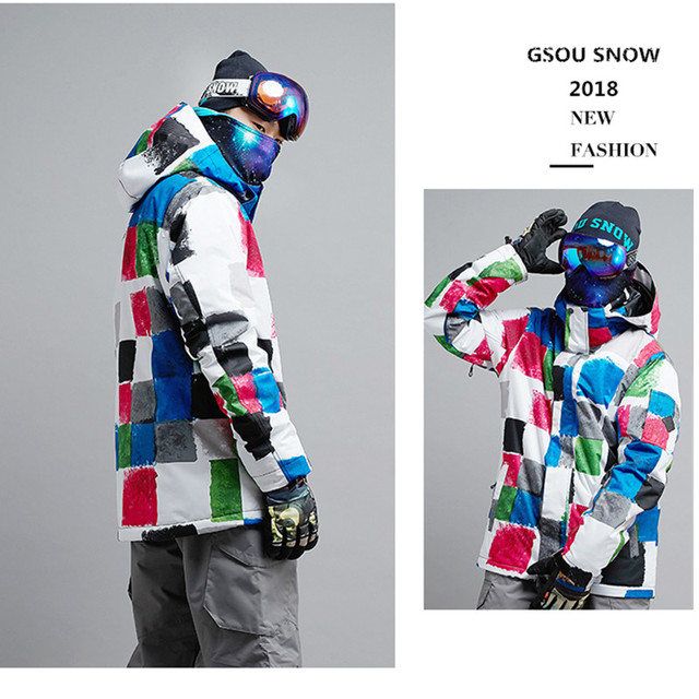 d63051e381 Gsou Snow Winter brand Ski Jacket For men Ski Sport jacket Winter  Waterproof Ski Suit Outdoor Leisure mens Coat Snowboard
